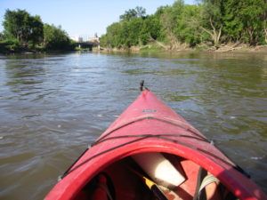 Kayak on the Red River