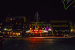 Fargo Theatre in the Nighttime