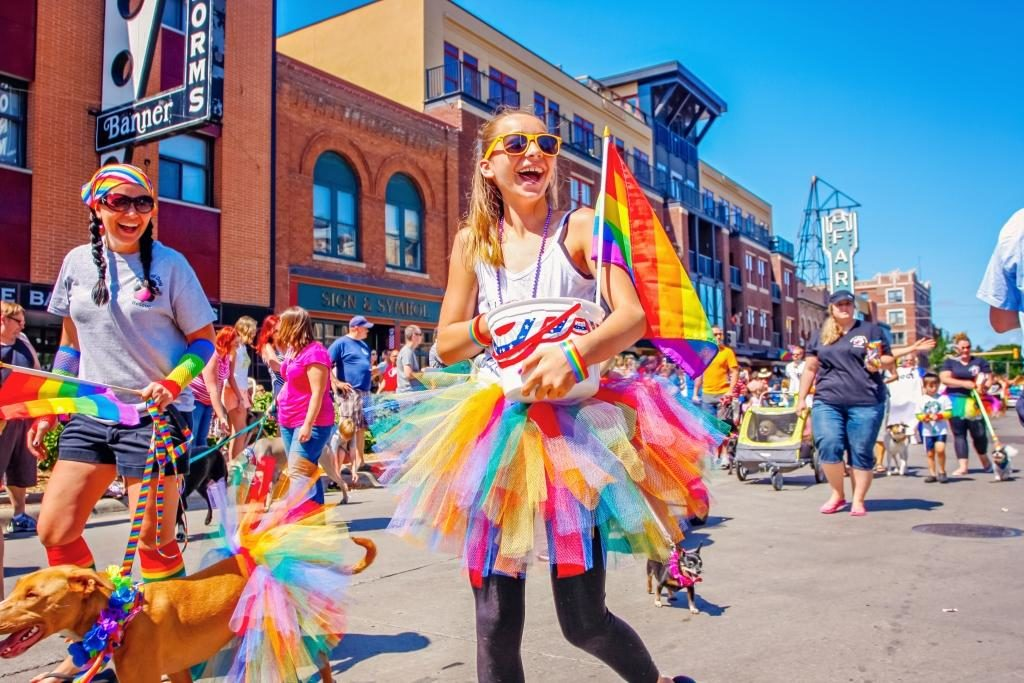 FM pride parade in downtown Fargo, ND