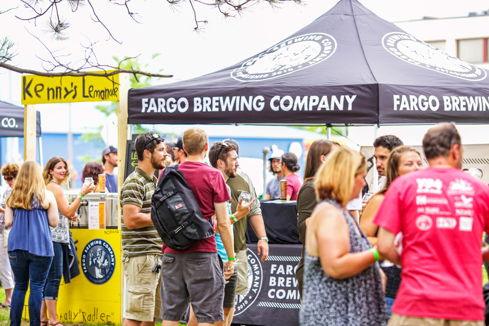 Fargo Brewing Co. tent at Rare Beer Picnic in Moorhead, MN