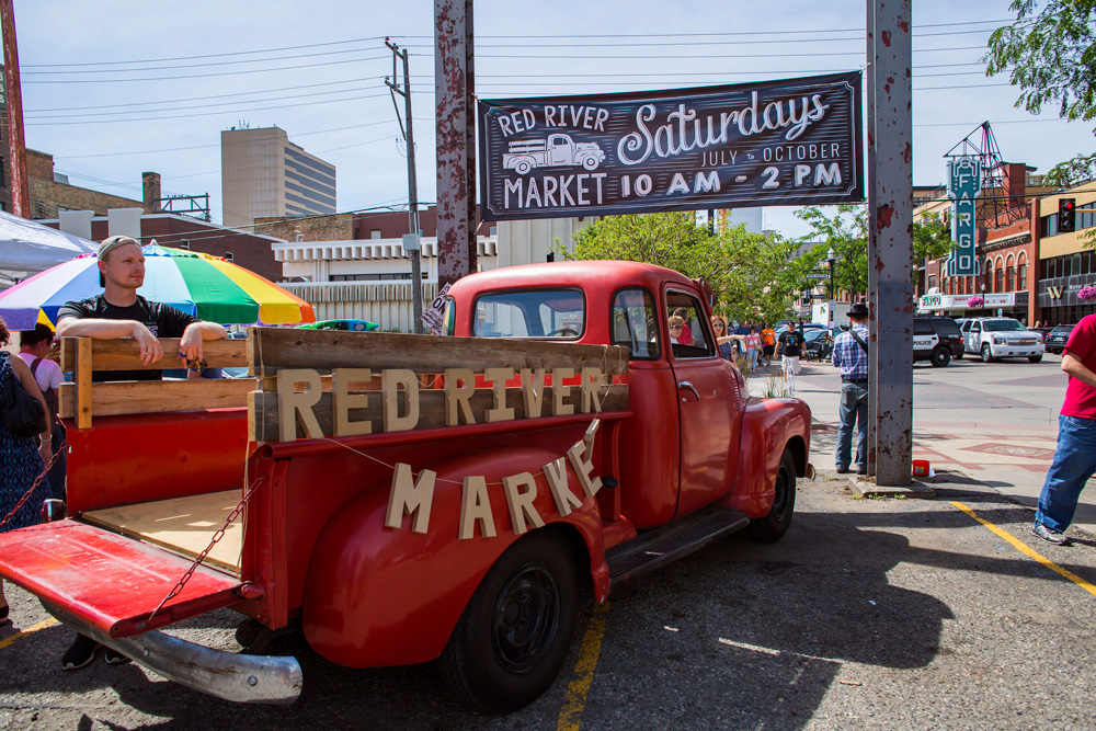 Red River Market truck in downtown Fargo, ND