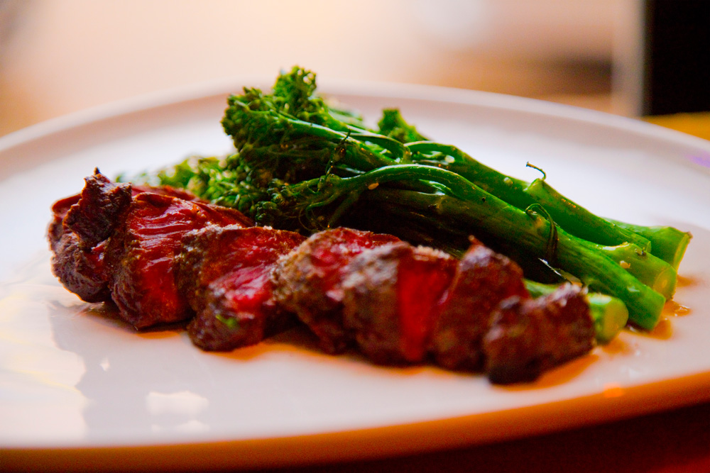 Steak and broccolini for Fargo-Moorhead Restaurant Week