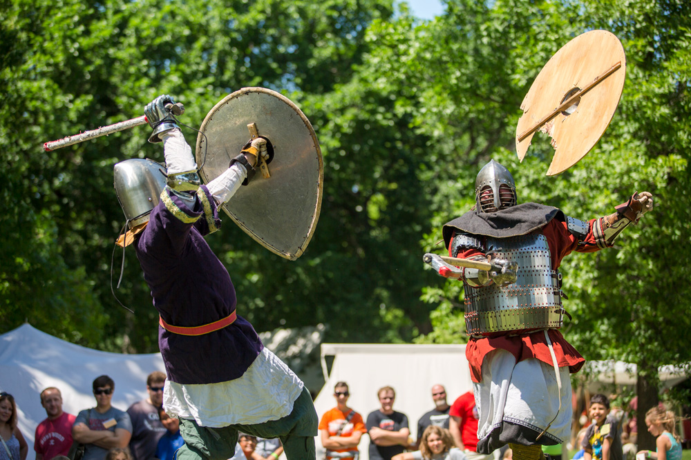 Viking demonstration at Scandinavian Hjemkomst and Midwest Viking Festival