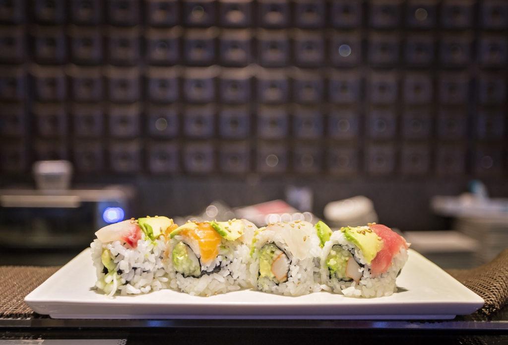 Plate of sushi at Izumi Sushi Restaurant
