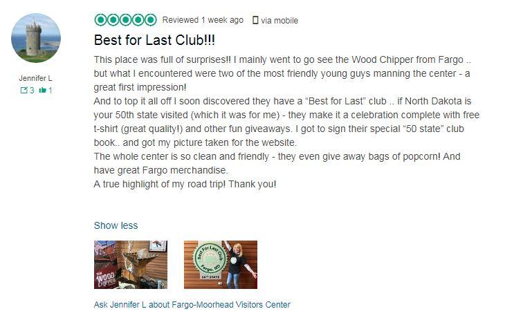 Review on TripAdvisor for the Best for Last Club in Fargo North Dakota