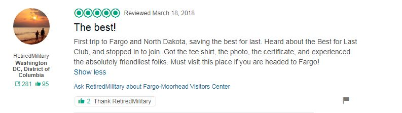Best for Last Club review on TripAdvisor from Fargo ND