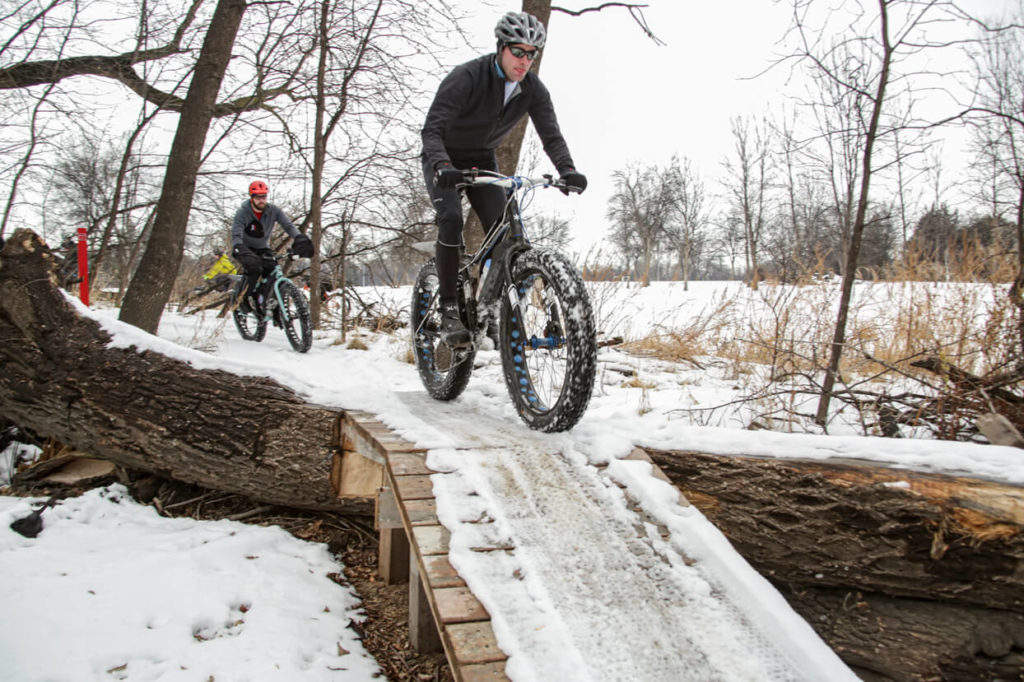 Fat Tire Bikers in Gooseberry Park