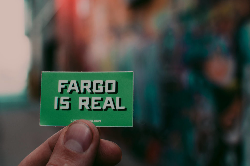 Fargo is real souvenir sticker