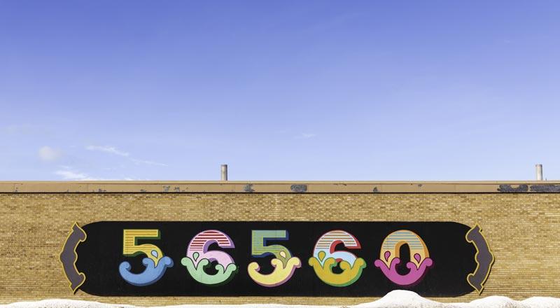 56560 zip code street mural in Moorhead