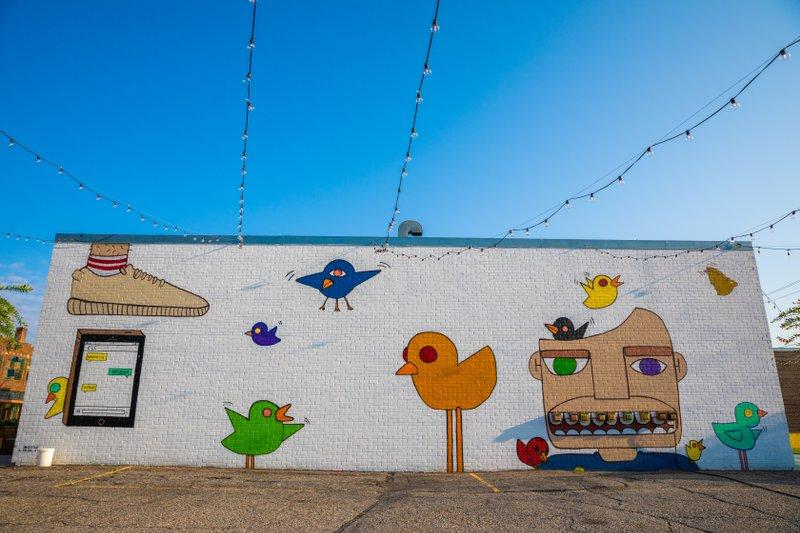 Bird Up street mural