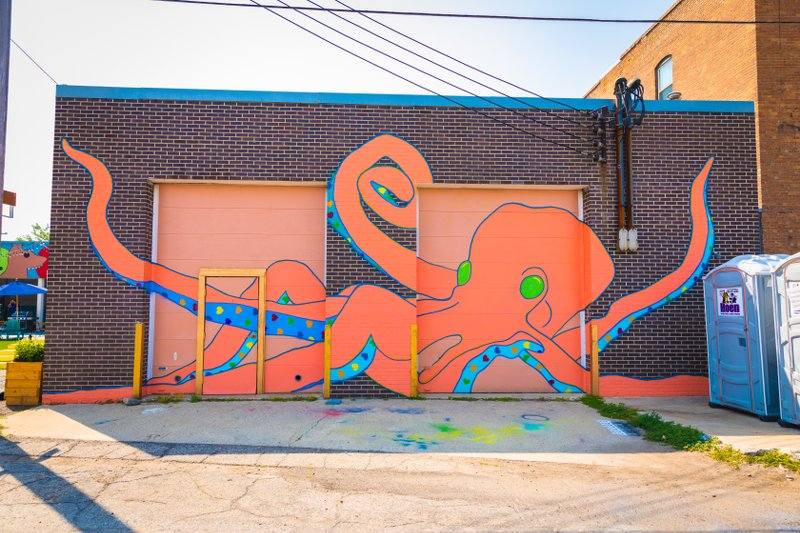 Downtown Fargo Octopus mural