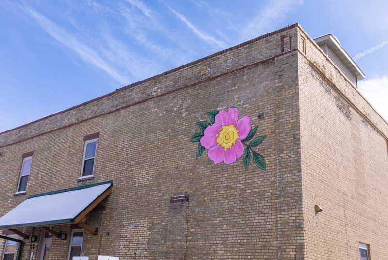 Prairie Rose building mural
