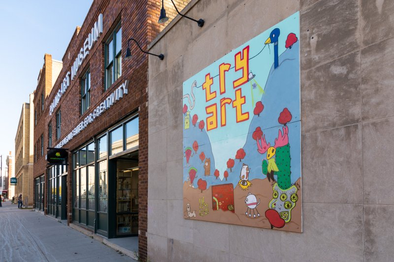 Try Art mural in Downtown Fargo