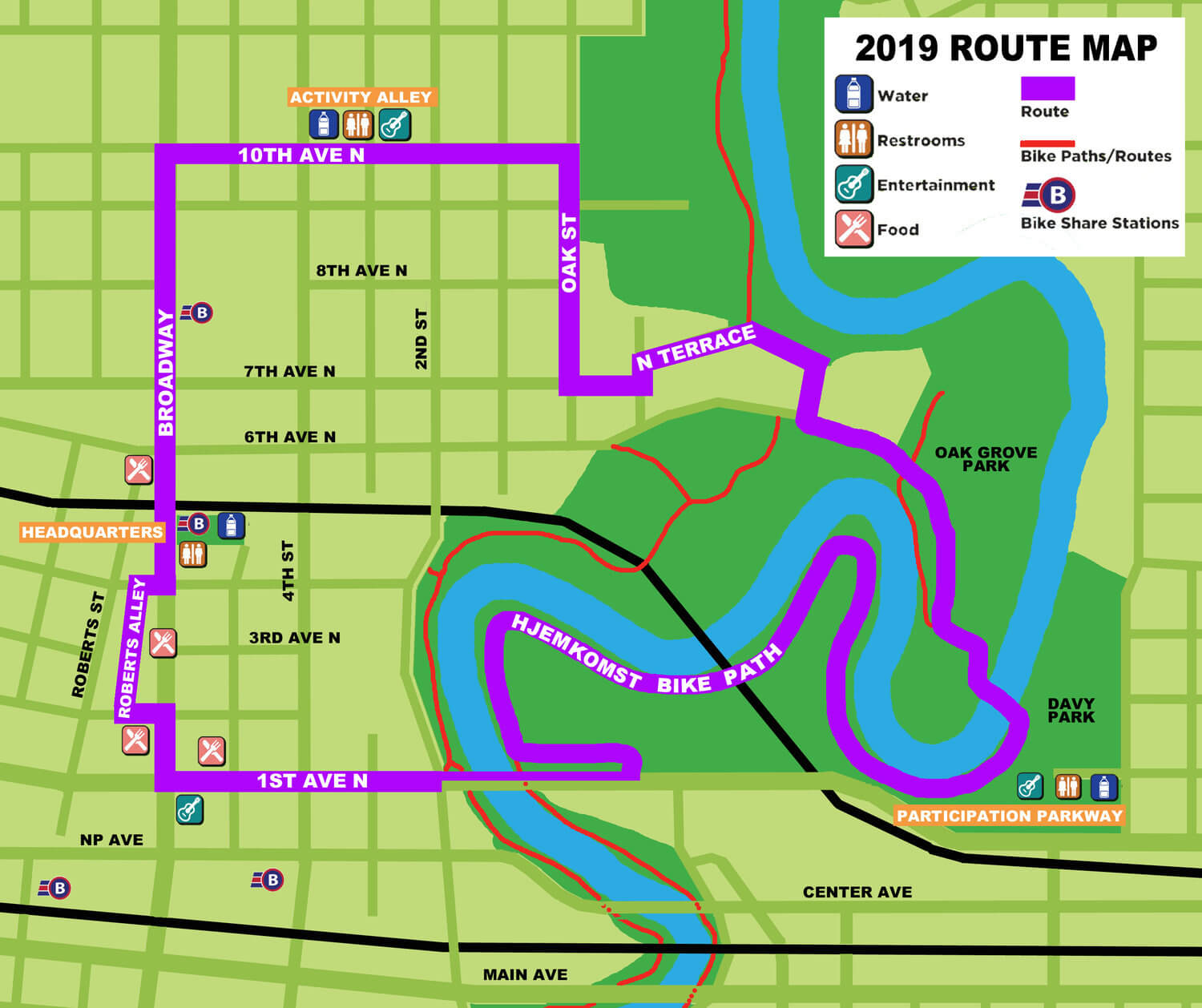 Streets Alive! map for 2019