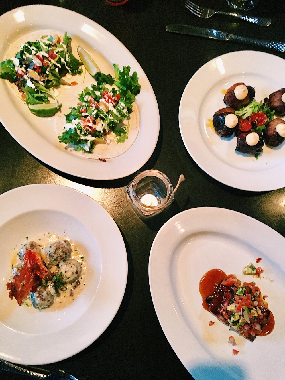 Plates of food from Rustica